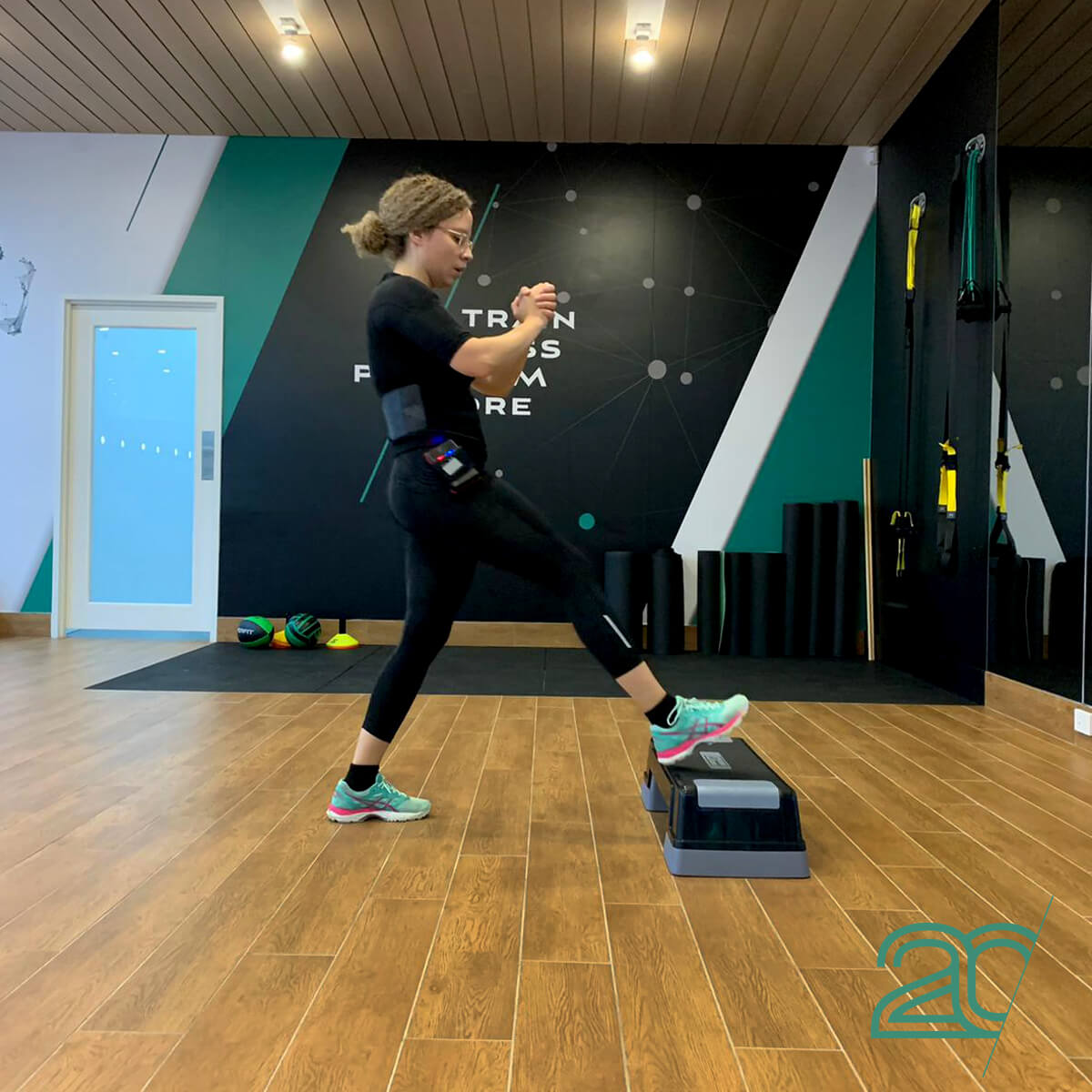 Woman Training with 20PerFit's EMS Technology at the Parramatta Studio