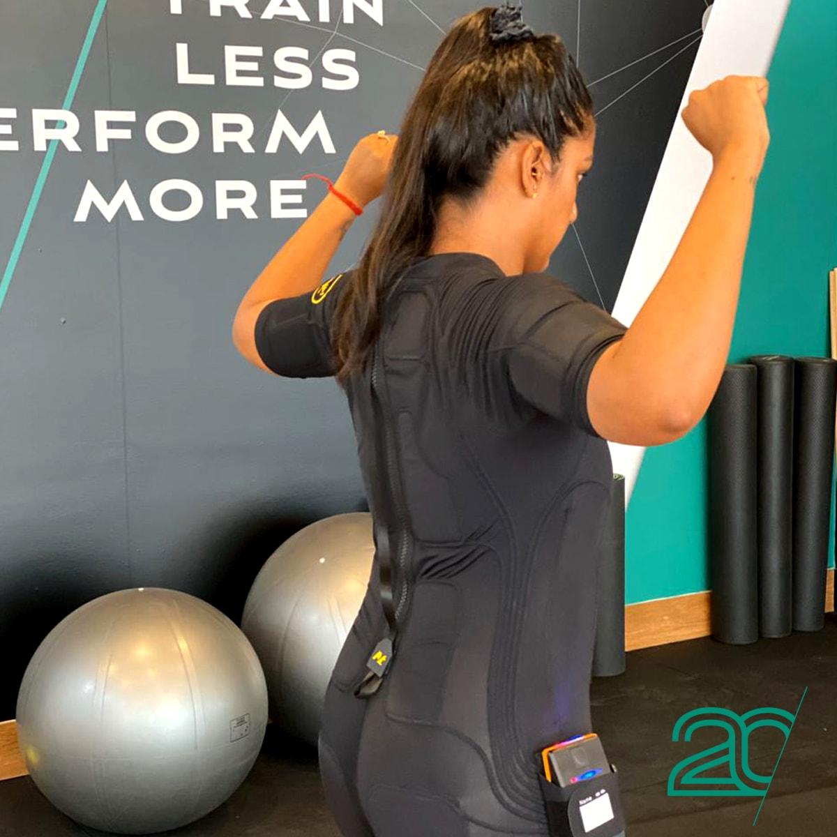 Woman Exercising with EMS at 20PerFit's Parramatta Studio