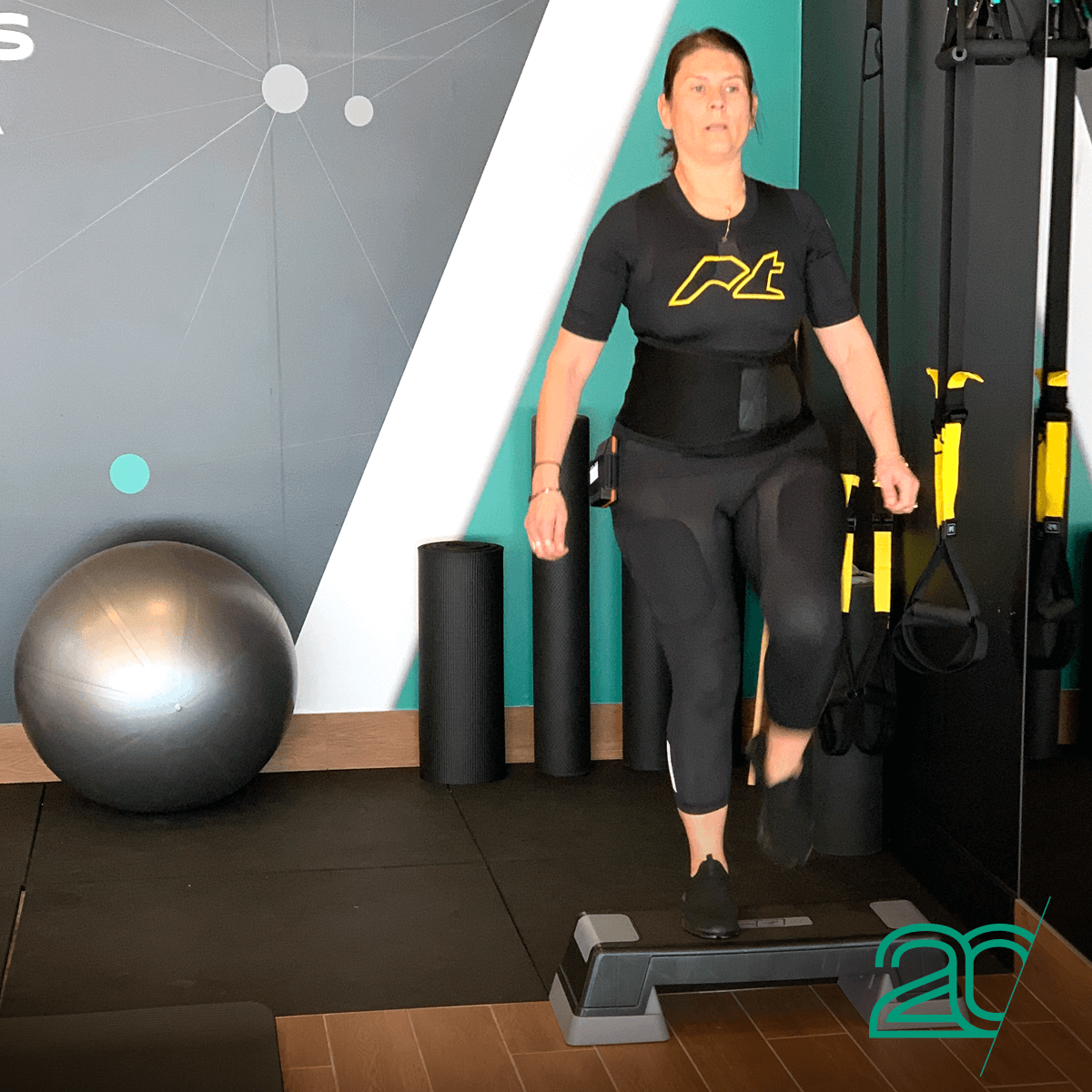 Woman Training with EMS Technology at 20PerFit's Parramatta Studio