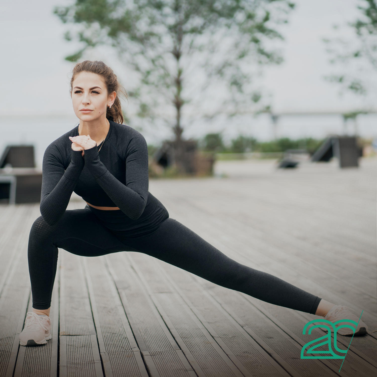 Woman Sretching During Outdoor Workout
