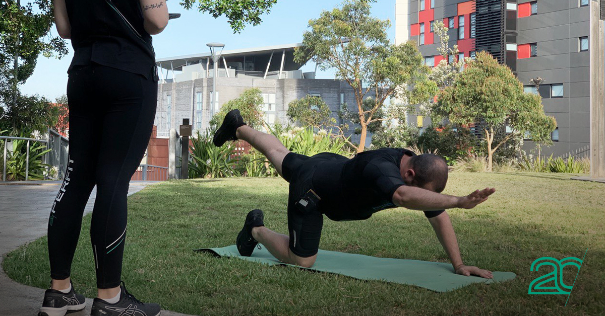 Outdoor EMS Training with a 20PerFit Personal Trainer