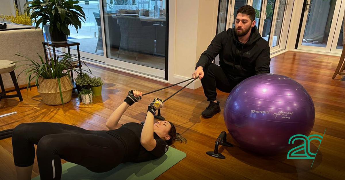 woman training in 20Perfit Studio